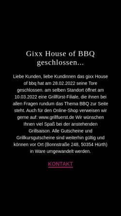 Vorschau der mobilen Webseite www.gixx-bbq.de, gixx House of BBQ