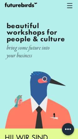Vorschau der mobilen Webseite www.futurebirds.de, futurebirds – Neues Arbeiten