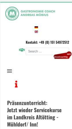 Vorschau der mobilen Webseite gastronomiecoach.andreas-moebius.de, Gastronomiecoach Andreas-Möbius.de