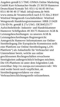 Vorschau der mobilen Webseite onma-internetagentur-hannover.de, ONMA Online Marketing GmbH