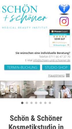 Vorschau der mobilen Webseite www.schoen-und-schoener.de, Schön&Schöner Medical-Beauty Ltd.