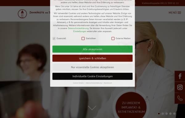 Vorschau von die-zahnaerzte-erding.de, MVZ Zahnärzte am Schönen Turm