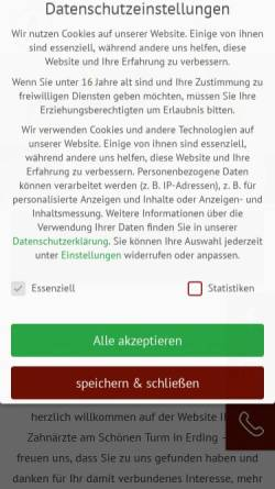Vorschau der mobilen Webseite die-zahnaerzte-erding.de, MVZ Zahnärzte am Schönen Turm