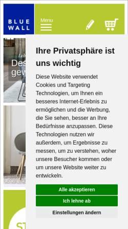Vorschau der mobilen Webseite www.blue-wall-design.de, Blue Wall Design GmbH