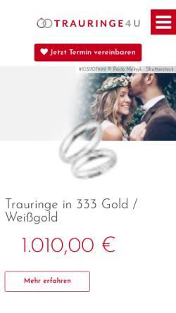 Vorschau der mobilen Webseite www.trauringe4u.de, Trauringe4u
