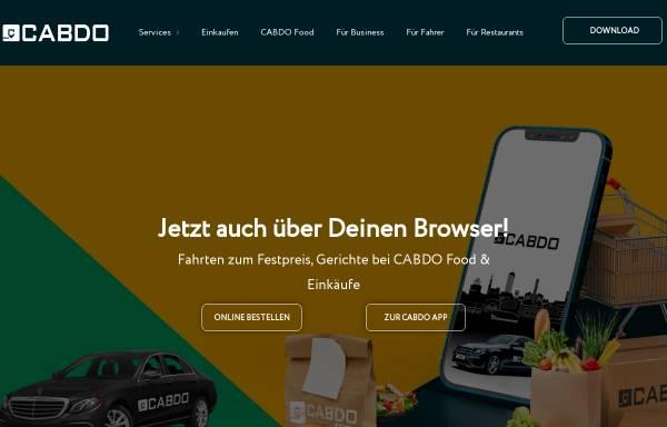 Vorschau von www.cabdo.de, Cabdo - Die Digitale Taxizentrale