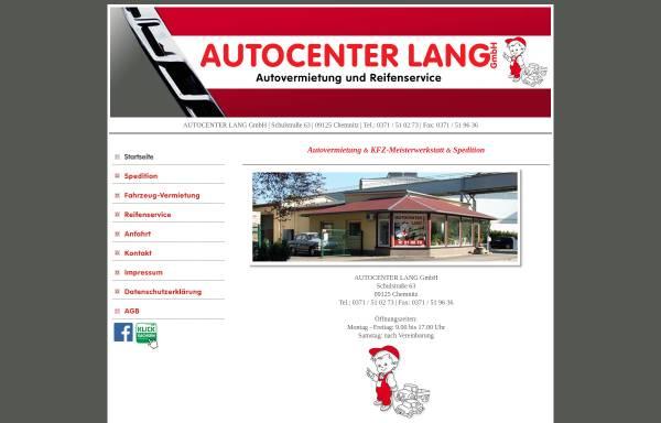 Vorschau von autovermietung-lang.de, Autocenter Lang GmbH