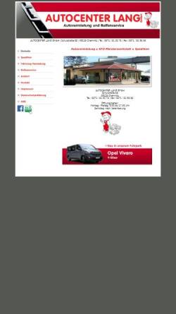 Vorschau der mobilen Webseite autovermietung-lang.de, Autocenter Lang GmbH