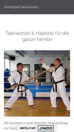 Vorschau der mobilen Webseite kampfsport-saarbruecken.jimdosite.com, Koreanischer Kampfsport in Saarbrücken