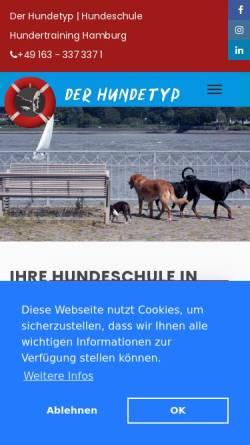 Vorschau der mobilen Webseite www.der-hundetyp.de, Der Hundetyp