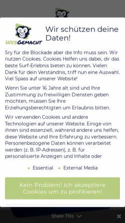 Vorschau der mobilen Webseite webgemacht.com, TM-Marketings, Mueller Tobias