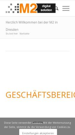 Vorschau der mobilen Webseite m2-digitalsolution.de, M2 digital solution UG