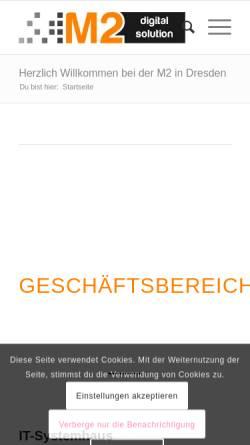 Vorschau der mobilen Webseite m2-digitalsolution.de, M2 digital solution UG