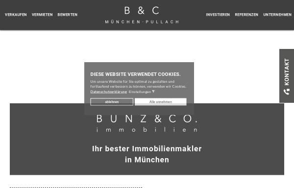 Vorschau von www.bunz-co.de, BUNZ & CO Immobilien GmbH