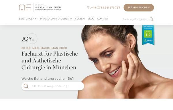 Vorschau von www.aesthetic-eder.de, PD Dr. Med. Maximilian Eder