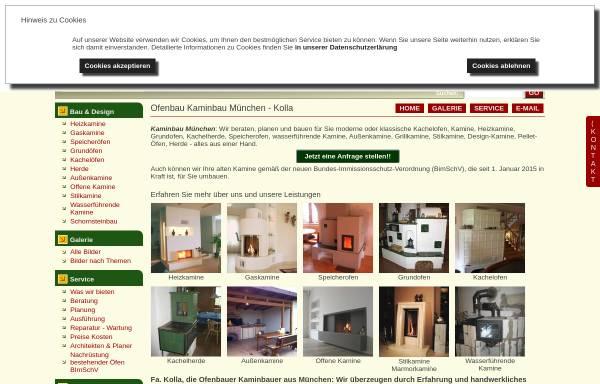 Vorschau von www.kaminbau-kolla.de, Kaminbau Kolla
