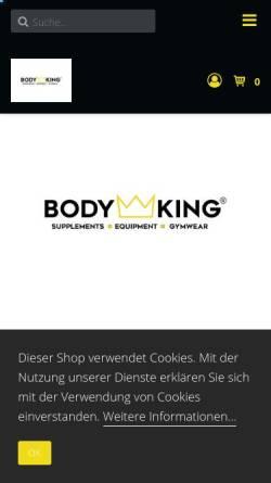 Vorschau der mobilen Webseite bodyking-webshop.de, BODYKING®