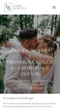 Vorschau der mobilen Webseite www.liebe-bewegt.de, Liebe Bewegt