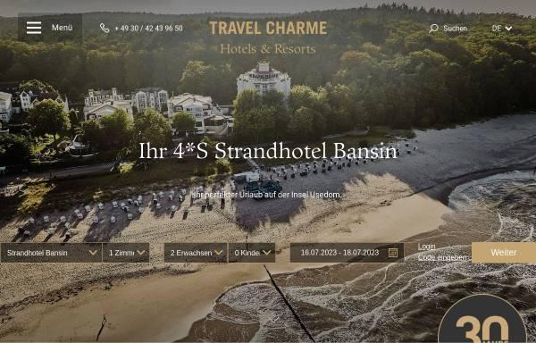 Vorschau von www.travelcharme.com, Travel Charme Strandhotel Bansin