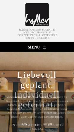 Vorschau der mobilen Webseite hyller.com, hyller Wohnsysteme GmbH