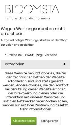 Vorschau der mobilen Webseite www.bloomsta.de, Bloomsta