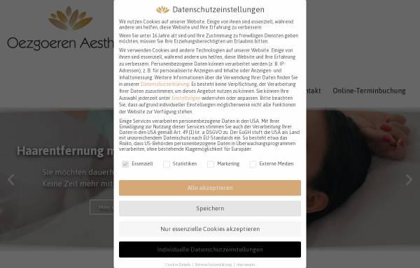 Vorschau von www.oezgoeren-aesthetik.de, Oezgoeren Aesthetik
