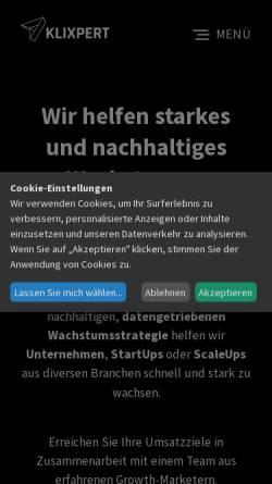 Vorschau der mobilen Webseite www.klixpert.io, DOPAMIN Marketing GmbH