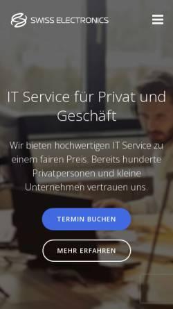 Vorschau der mobilen Webseite swiss-electronics.com, Swiss Electronics GmbH