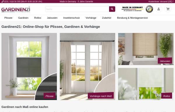 Vorschau von gardinen21.de, Gardinen21