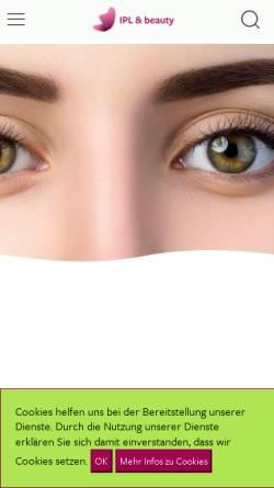 Vorschau der mobilen Webseite www.ipl-and-beauty.de, IPL & Beauty