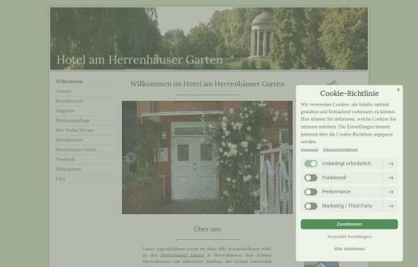Vorschau von www.hotel-am-herrenhaeuser-garten.de, Hotel am Herrenhäuser Garten