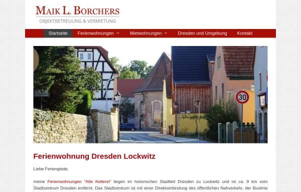 Vorschau von www.maik-borchers.de, Maik L. Borchers - Ferienwohnung Dresden Lockwitz