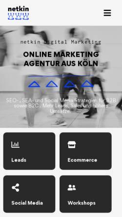 Vorschau der mobilen Webseite www.netkin.de, netkin®
