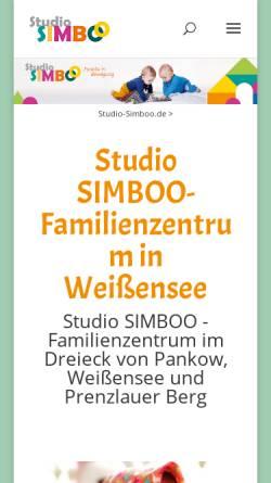 Vorschau der mobilen Webseite www.studio-simboo.de, Studio Simboo