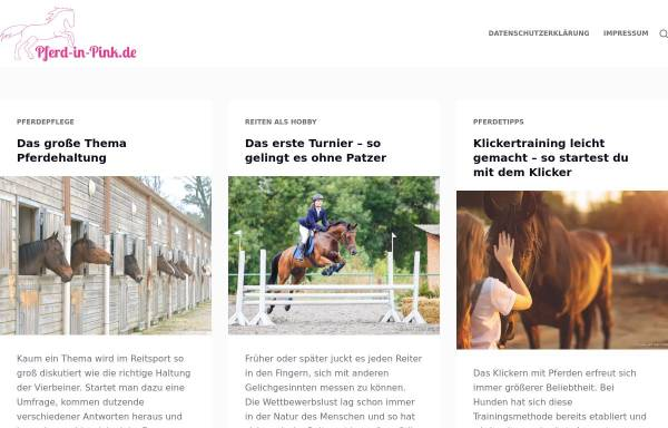 Vorschau von www.pferd-in-pink.de, Pferd in Pink