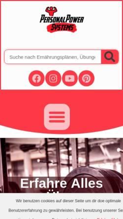 Vorschau der mobilen Webseite personalpower.systems, Personal Power Systems - Die voll umfassende Plattform für Kraftsport