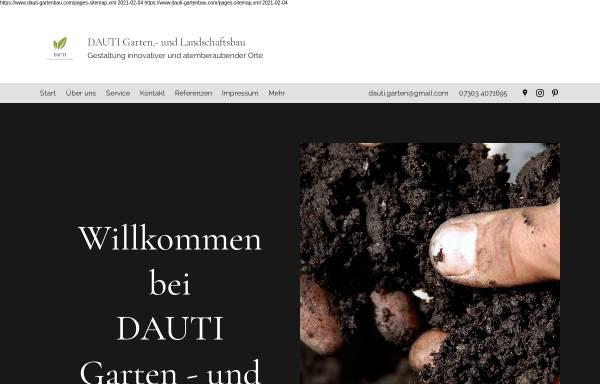 Vorschau von www.dauti-gartenbau.com, DAUTI Garten- und Landschaftsbau