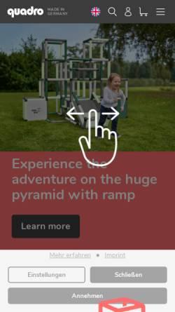 Vorschau der mobilen Webseite quadroshop.de, QUADRO der Großbaukasten GmbH
