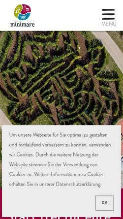 Vorschau der mobilen Webseite www.minimare.de, minimare