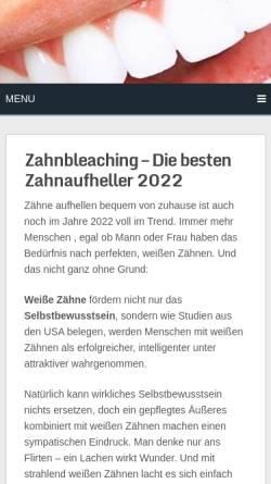 Vorschau der mobilen Webseite zahn-aufhellung-test.de, Zahanaufhellung Test