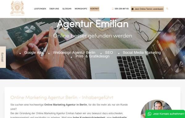 Vorschau von www.agentur-emilian.de, Agentur Emilian