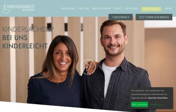 Vorschau von www.muenchen-kinderzahnarzt.de, Kinderzahnärzte am Ostpark MVZ GmbH