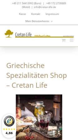 Vorschau der mobilen Webseite www.cretan-life.de, Cretan Life