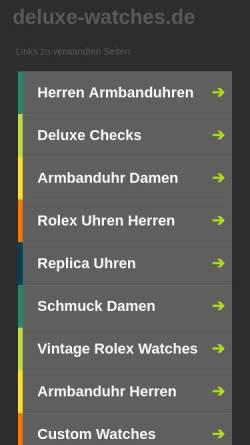 Vorschau der mobilen Webseite deluxe-watches.de, DELUXE WATCHES