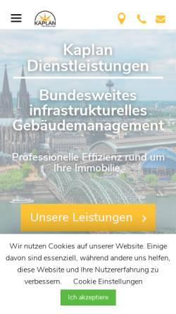 Vorschau der mobilen Webseite kaplandl.de, Kaplan Dienstleistungen GmbH