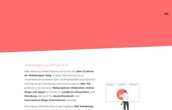Vorschau von id23.net, id23 Webdesign