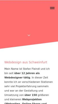 Vorschau der mobilen Webseite id23.net, id23 Webdesign