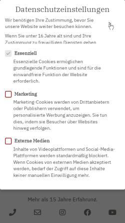 Vorschau der mobilen Webseite drmertz.de, Plastische Chirurgie Dr. med. Indra Mertz