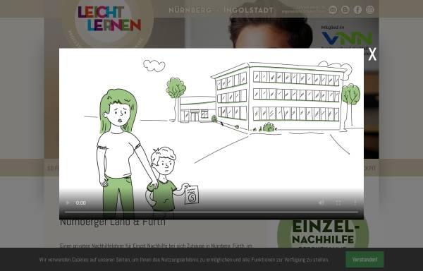 Vorschau von www.leichtlernen.com, LEICHT LERNEN Unternehmergesellschaft
