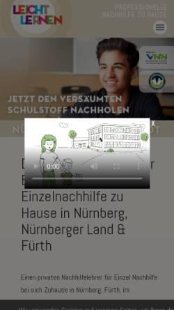 Vorschau der mobilen Webseite www.leichtlernen.com, LEICHT LERNEN Unternehmergesellschaft